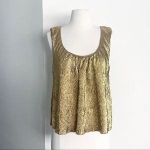 Gold Metallic Tank Top